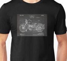 Harley-Davidson Motorcycle US Patent Art 1928 blackboard Unisex T-Shirt