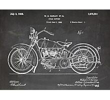Harley-Davidson Motorcycle US Patent Art 1928 blackboard Photographic Print