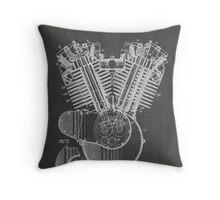 Harley Davidson Motorcycle Engine US Patent Art 1923 Throw Pillow