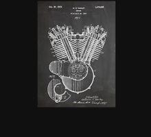 Harley Davidson Motorcycle Engine US Patent Art 1923 Unisex T-Shirt