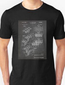 LEGO Construction Toy Blocks US Patent Art blackboard Unisex T-Shirt