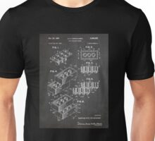 LEGO Construction Toy Blocks US Patent Art blackboard Unisex T-Shirt