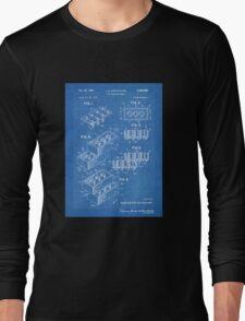 LEGO Construction Toy Blocks US Patent Art blueprint Long Sleeve T-Shirt
