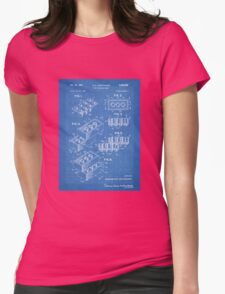 LEGO Construction Toy Blocks US Patent Art blueprint Womens Fitted T-Shirt