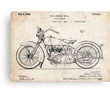 Harley Davidson Motorcycle US Patent Art 1928 Metal Print