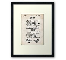 Star Trek USS Enterprise US Patent Art Spacecraft Rocket Kirk Spock Framed Print