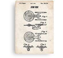 Star Trek USS Enterprise US Patent Art Spacecraft Rocket Kirk Spock Canvas Print