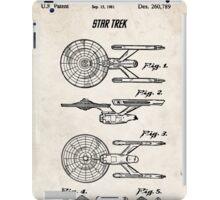 Star Trek USS Enterprise US Patent Art Spacecraft Rocket Kirk Spock iPad Case/Skin