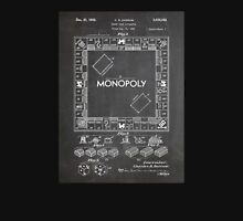 Monopoly Board Game US Patent Art 1935 Blackboard Unisex T-Shirt