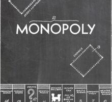 Monopoly Board Game US Patent Art 1935 Blackboard Sticker