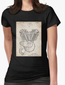 Harley Motorcycle Engine US Patent Art 1923 Harley-Davidson V-Twin Womens Fitted T-Shirt
