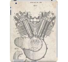 Harley Motorcycle Engine US Patent Art 1923 Harley-Davidson V-Twin iPad Case/Skin