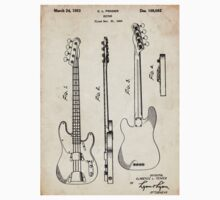 Fender Precision Bass Guitar US Patent Art Baby Tee