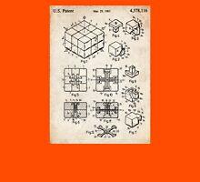 Rubik's Cube Toy Puzzle 1983 US Patent Art Unisex T-Shirt