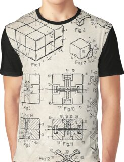 Rubik's Cube Toy Puzzle 1983 US Patent Art Graphic T-Shirt
