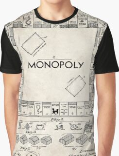 Monopoly Board Game US Patent Art 1935 Graphic T-Shirt