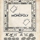 Monopoly Board Game US Patent Art 1935 by Steve Chambers