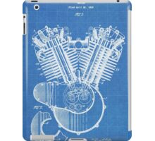 Harley Motorcycle Engine US Patent Art 1923 Harley-Davidson V-Twin Blueprint iPad Case/Skin