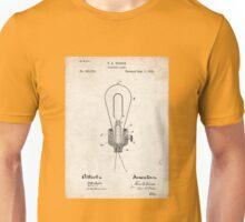 Edison Light Bulb Invention US Patent Art Unisex T-Shirt