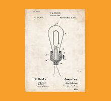 Edison Light Bulb Invention US Patent Art Unisex T-Shirt