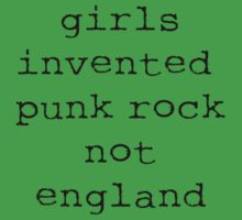 Girls Invented Punk Rock not England One Piece - Short Sleeve