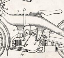 Harley-Davidson Motorcycle US Patent Art 1924 Sticker