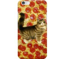 Pizza cool CUTE KITTEN hipster #4 iPhone Case/Skin