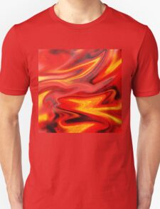 Hot Wave Abstract Painting  Unisex T-Shirt