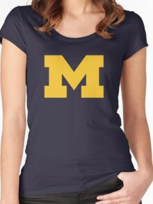 Michigan Women's Fitted Scoop T-Shirt
