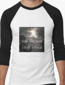 Stars can't shine without darkness  Men's Baseball ¾ T-Shirt