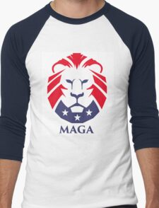 MAGA trump logo Men's Baseball ¾ T-Shirt