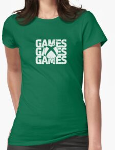 White Version Games Womens Fitted T-Shirt
