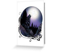 Howling Wolf (Signature Design) Greeting Card