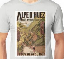 Vintage French sponsored Swiss Alps sport bicycle tour advert Unisex T-Shirt