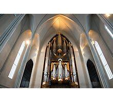 Hallgrímskirkja Pipe Organ Photographic Print