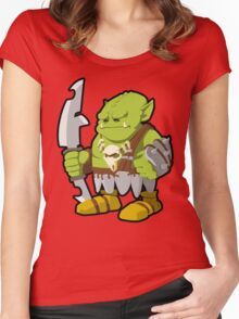 Orc Warrior Concept Art Women's Fitted Scoop T-Shirt