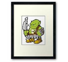 Orc Warrior Concept Art Framed Print