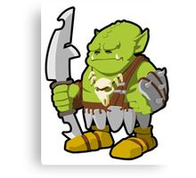 Orc Warrior Concept Art Canvas Print