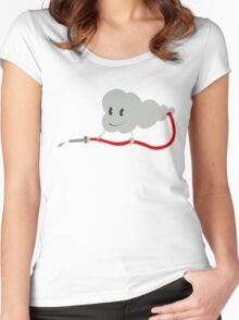 Cute Cloud Self-Hose Women's Fitted Scoop T-Shirt