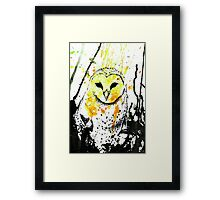 Watcher - Yellow Framed Print