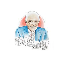 "Bernie Sanders ""FEEL THE BERN"" Photographic Print"