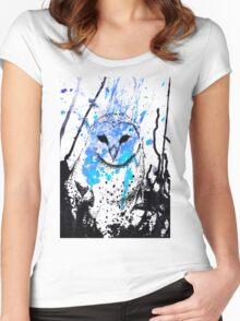 Watcher - Blue Women's Fitted Scoop T-Shirt