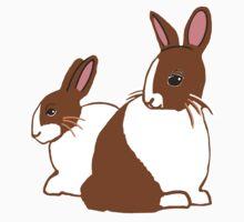 Chocolate Dutch Rabbits Baby Tee