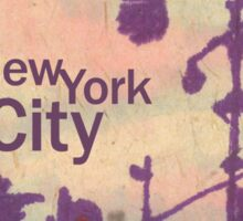 new york city streetlight silhouettes Sticker