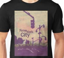 new york city streetlight silhouettes Unisex T-Shirt