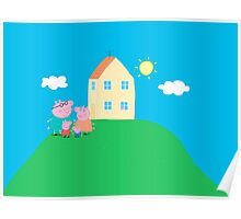 Peppa Pig and Family Poster