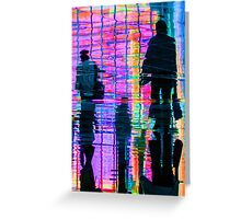 Commuter Abstract Greeting Card