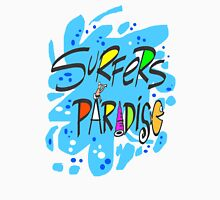 Fun blue splash design featuring Surfers Paradise Women's Fitted Scoop T-Shirt