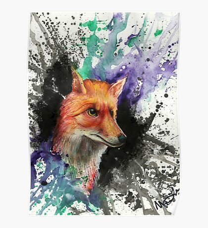 Fox of Many Colors Poster