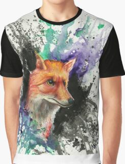Fox of Many Colors Graphic T-Shirt